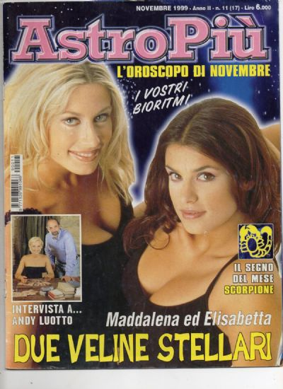 INTERVISTA ANDY LUOTTO E ALICE NOVEMBRE 1999