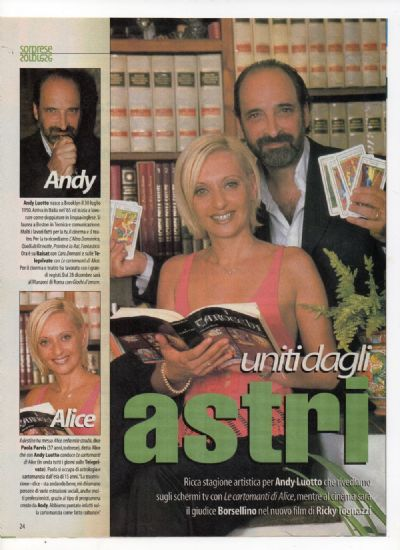 ALICE /ANDY LUOTTO RADIOCORRIERE   SETTEMBRE 2000